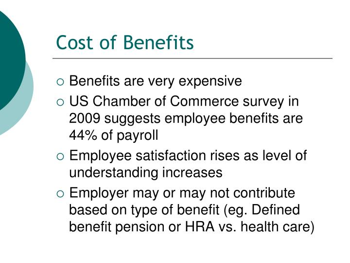 Cost of Benefits