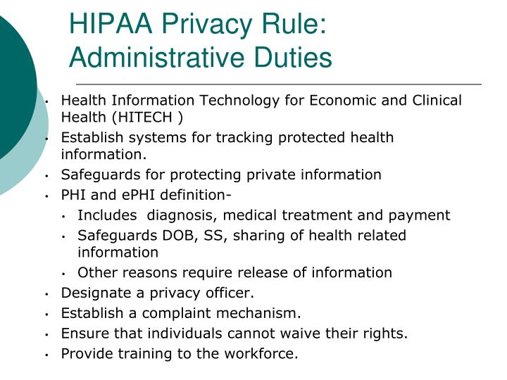 HIPAA Privacy Rule: