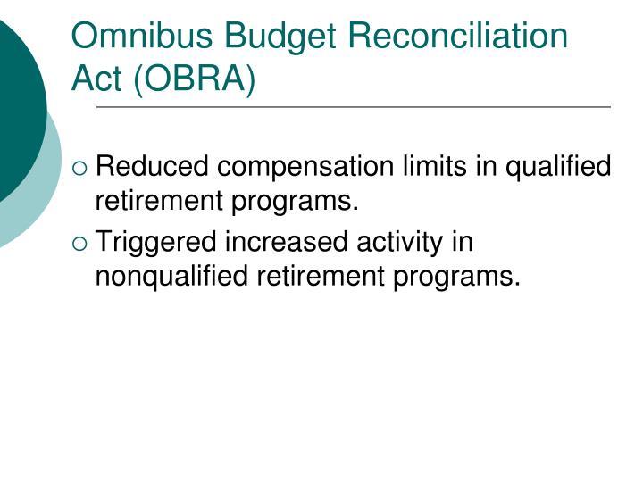 Omnibus Budget Reconciliation Act (OBRA)