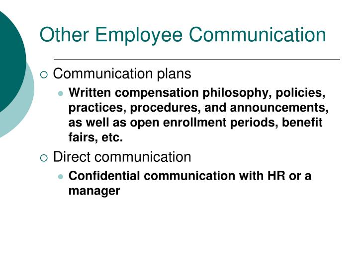 Other Employee Communication