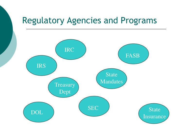Regulatory Agencies and Programs