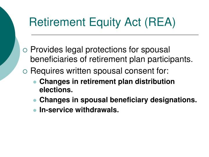 Retirement Equity Act (REA)