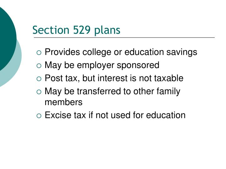 Section 529 plans