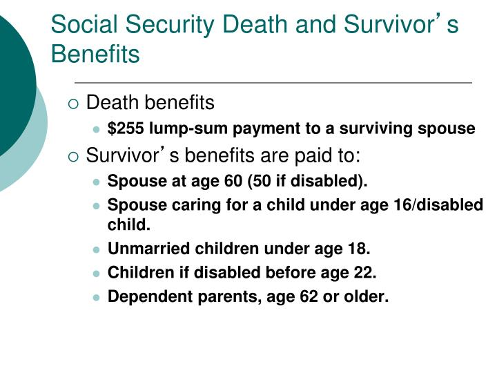 Social Security Death and Survivor
