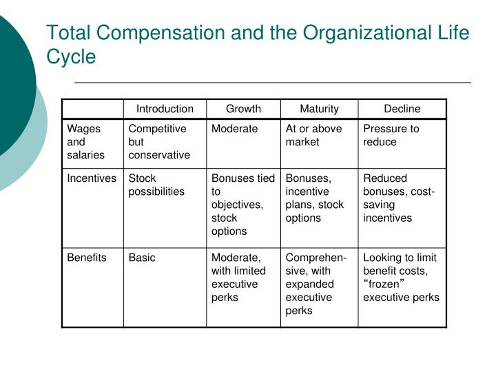 Total Compensation and the Organizational Life Cycle