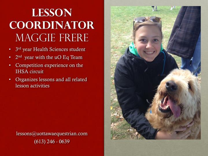 Lesson coordinator