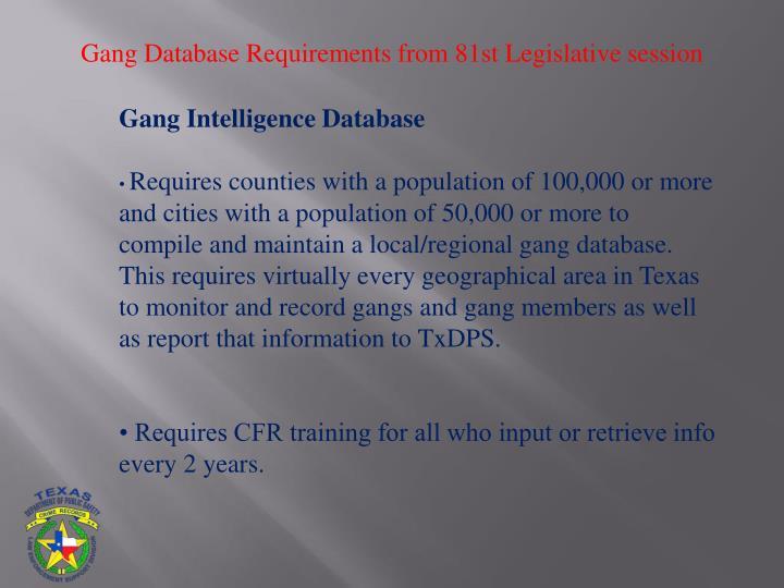 Gang Database