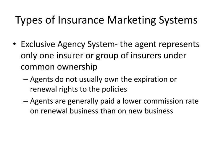 Types of Insurance Marketing Systems