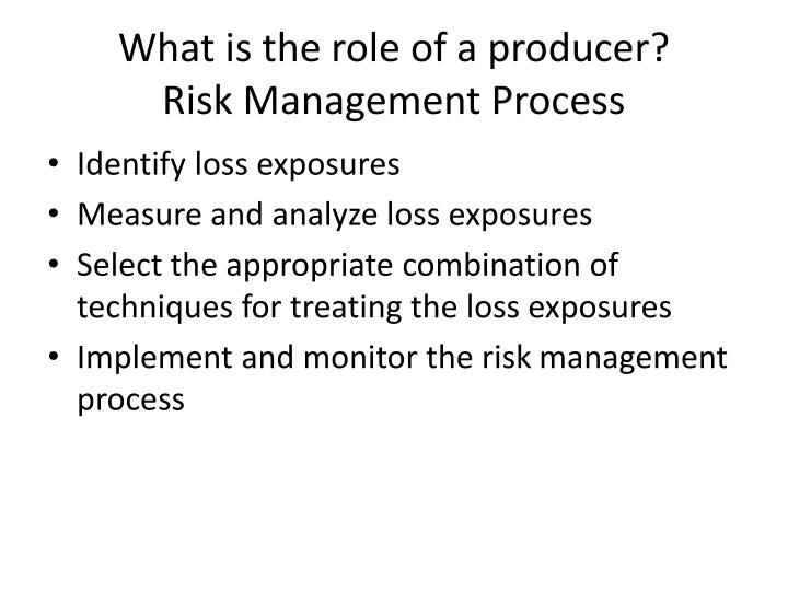 What is the role of a producer?