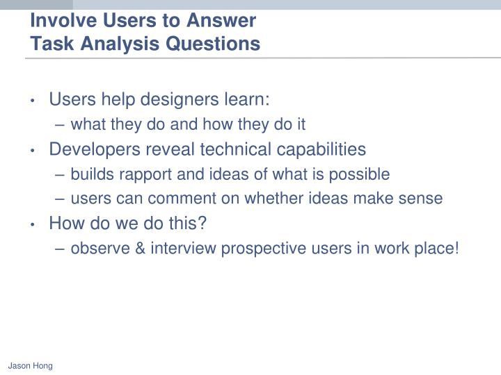 Involve Users to Answer