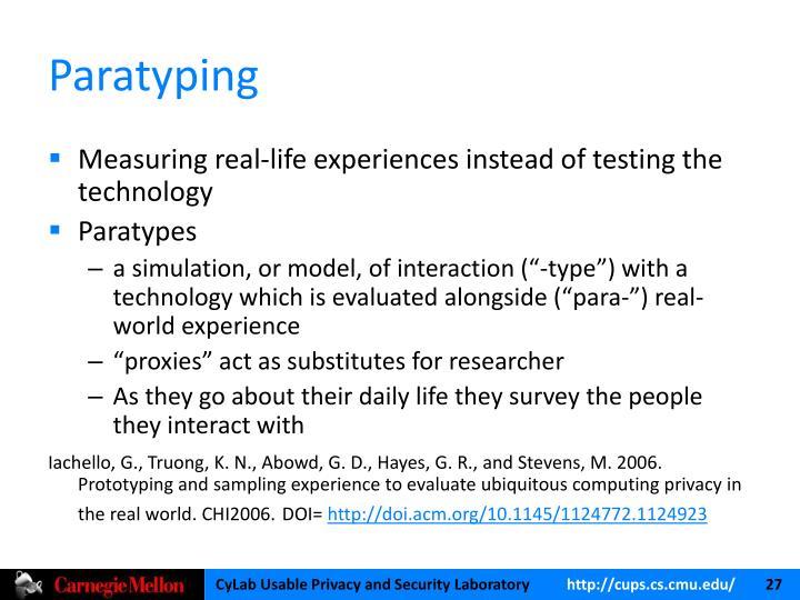 Paratyping