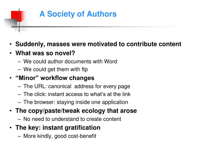 A Society of Authors