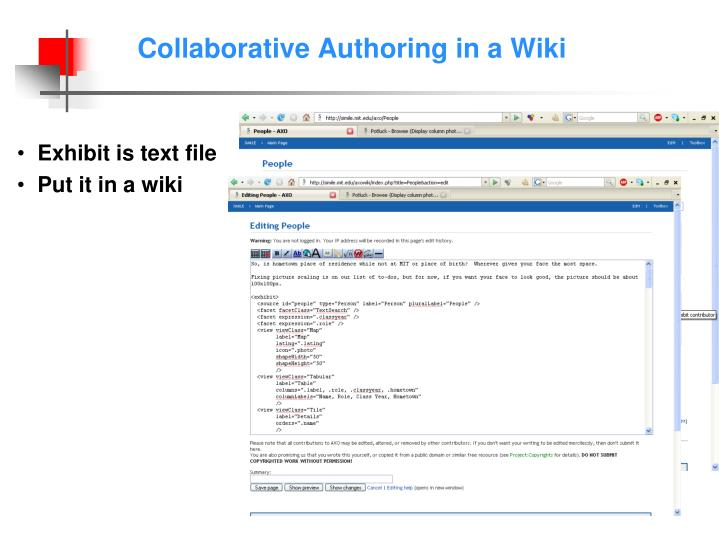 Collaborative Authoring in a Wiki