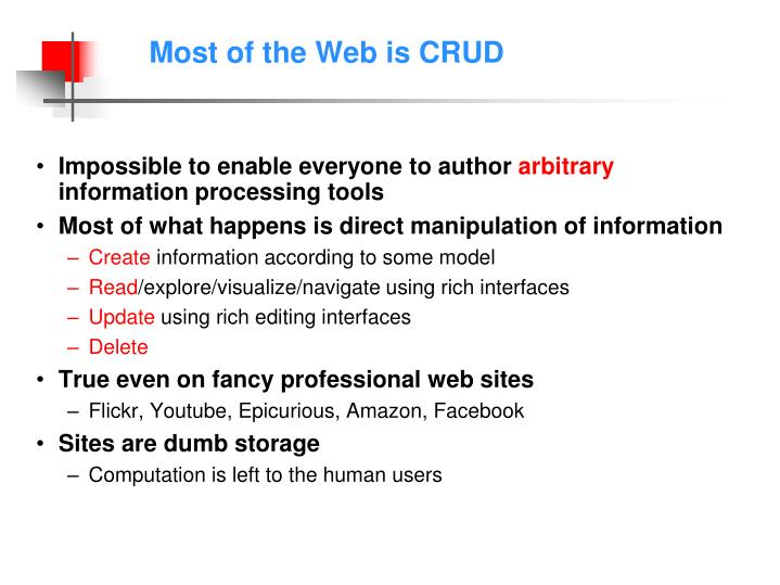 Most of the Web is CRUD