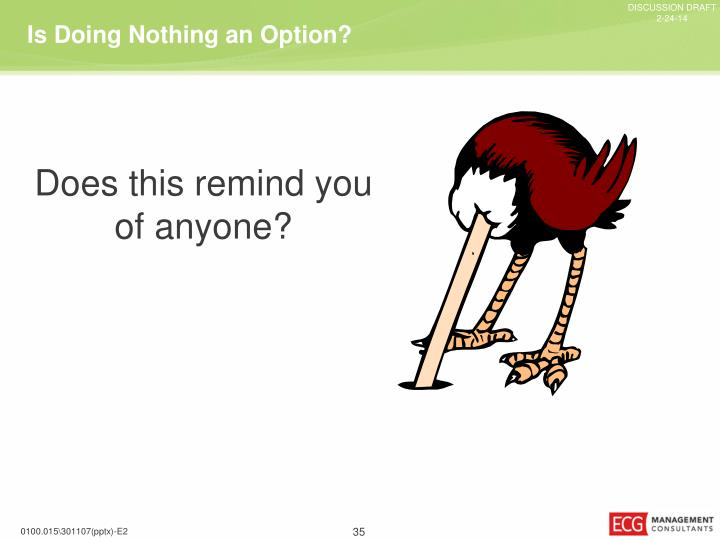Is Doing Nothing an Option?