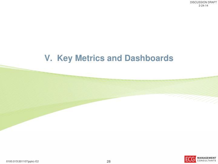 V.  Key Metrics and Dashboards