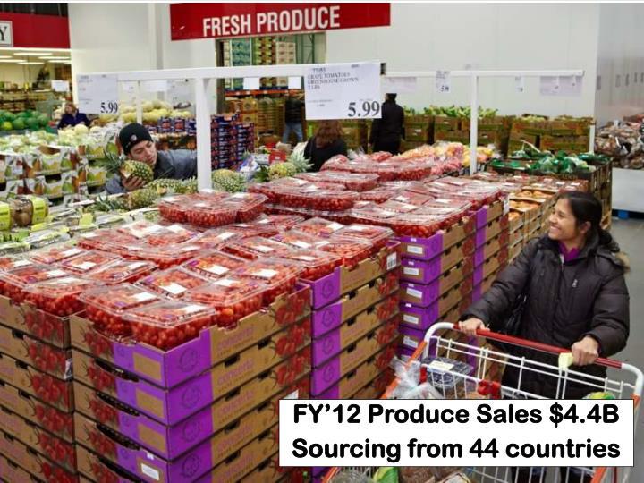 FY'12 Produce Sales $4.4B