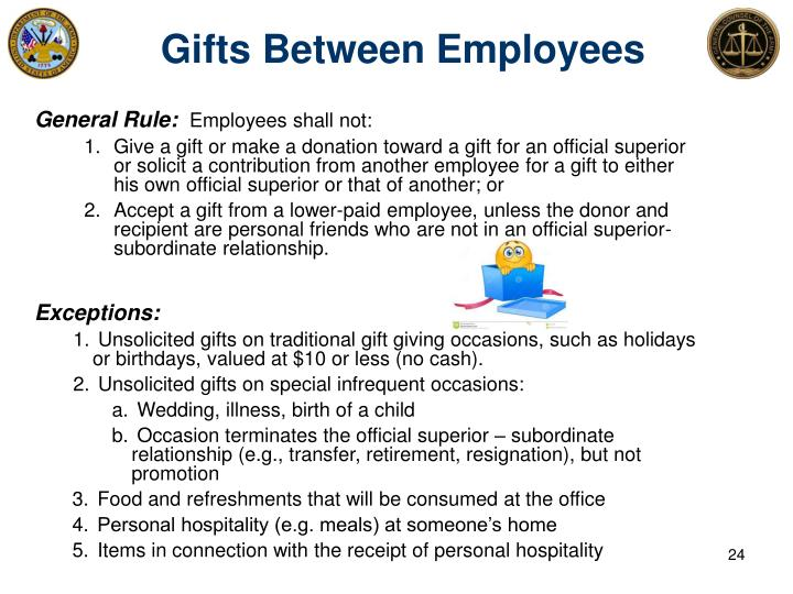 Gifts Between Employees