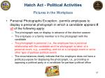 hatch act political activities pictures in the workplace1