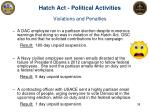 hatch act political activities violations and penalties