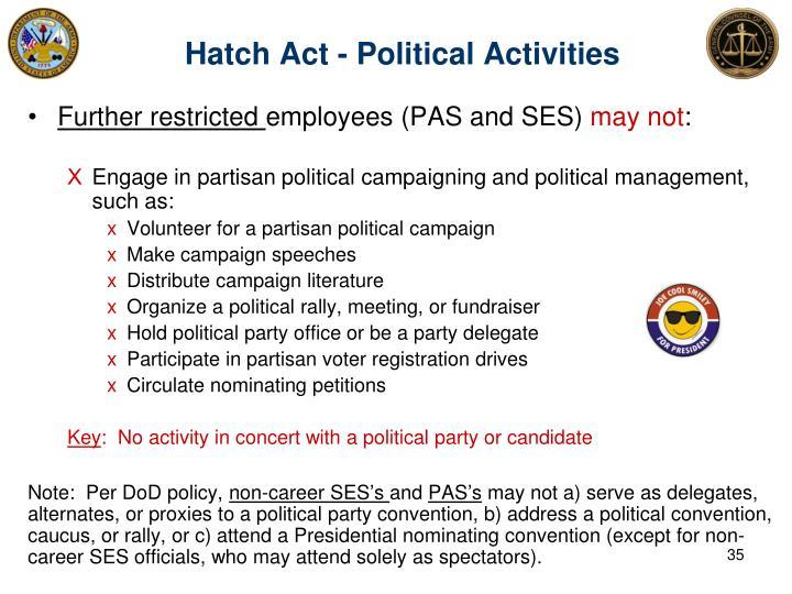 Hatch Act - Political Activities