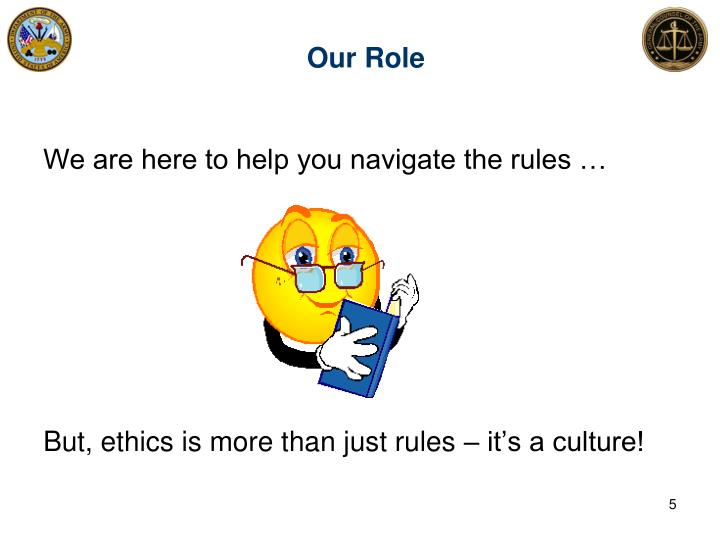 Our Role