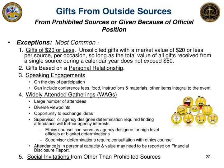 Gifts From Outside Sources