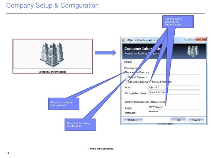 Company Setup & Configuration