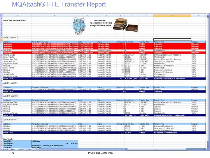 MQAttach® FTE Transfer Report