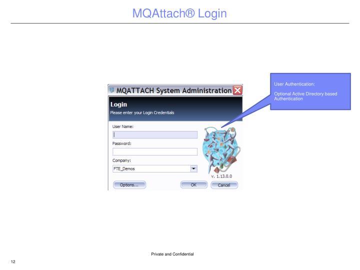 MQAttach® Login