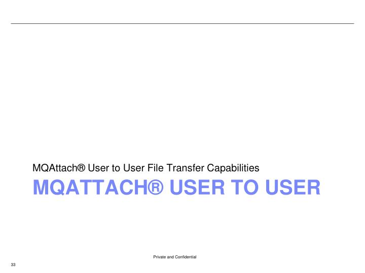 MQAttach® User to User File Transfer Capabilities
