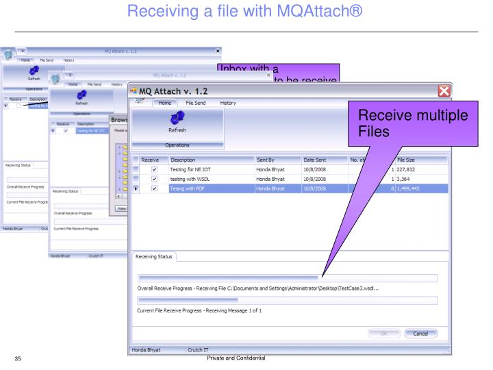 Receiving a file with MQAttach®