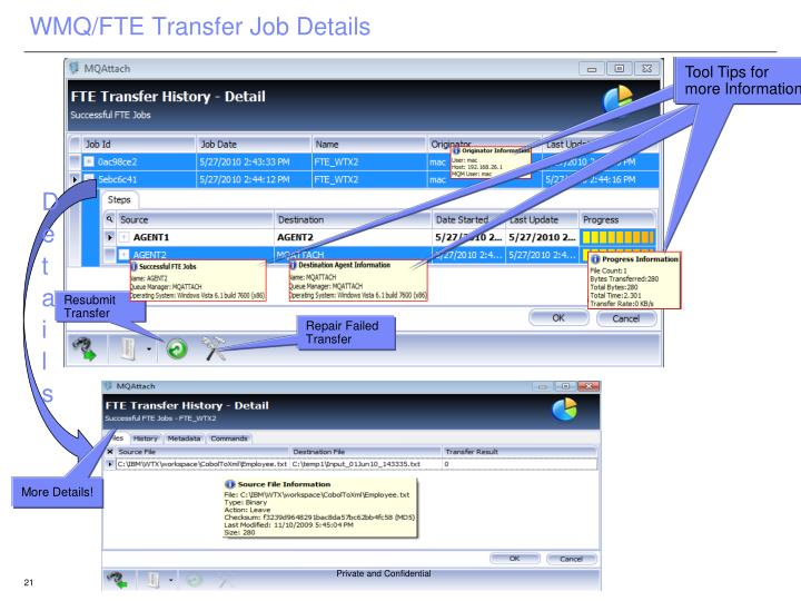 WMQ/FTE Transfer Job Details