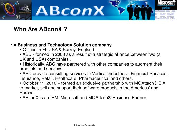 Who Are ABconX ?