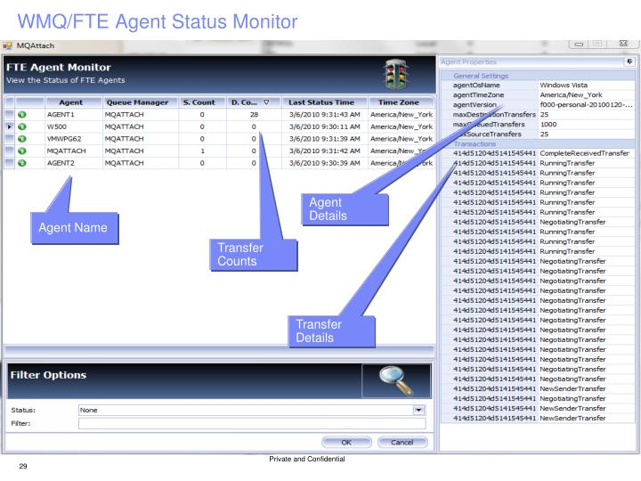 WMQ/FTE Agent Status Monitor