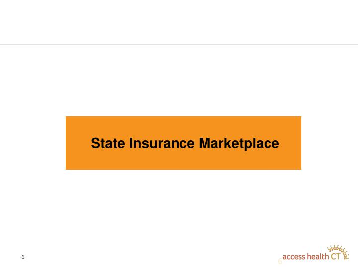 State Insurance Marketplace
