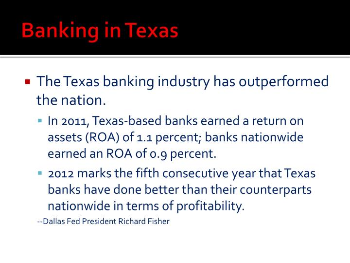 Banking in texas1