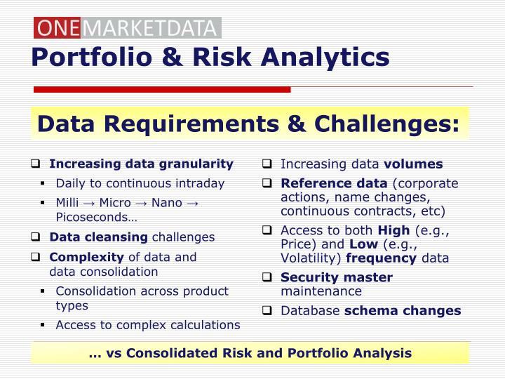 Portfolio & Risk