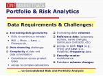 portfolio risk analytics
