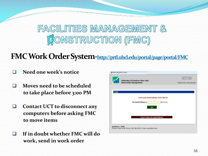 FACILITIES MANAGEMENT &                                                                          	ONSTRUCTION (FMC)
