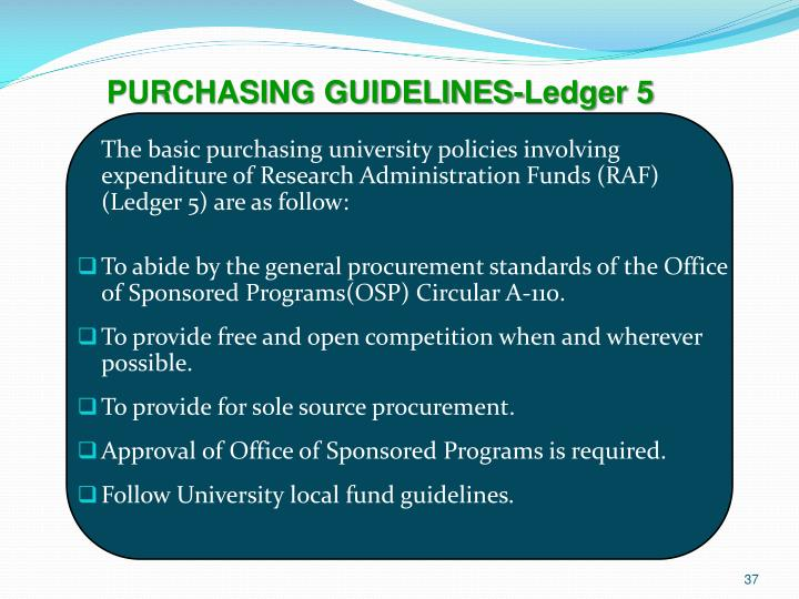 PURCHASING GUIDELINES-Ledger 5