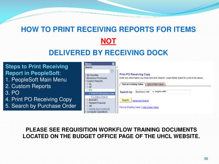 HOW TO PRINT RECEIVING