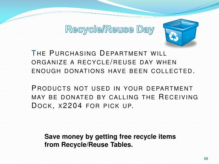 Recycle/Reuse Day