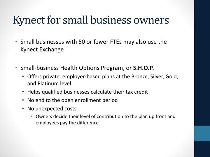 Kynect for small business owners