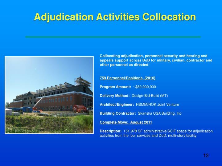 Adjudication Activities Collocation