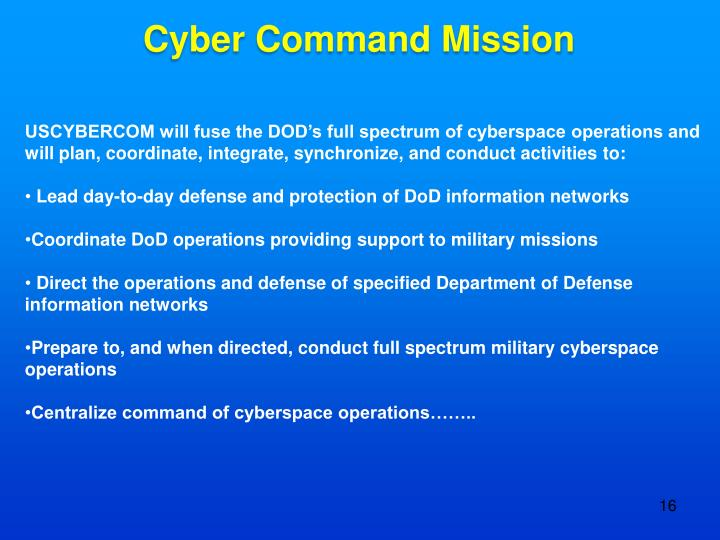 Cyber Command Mission