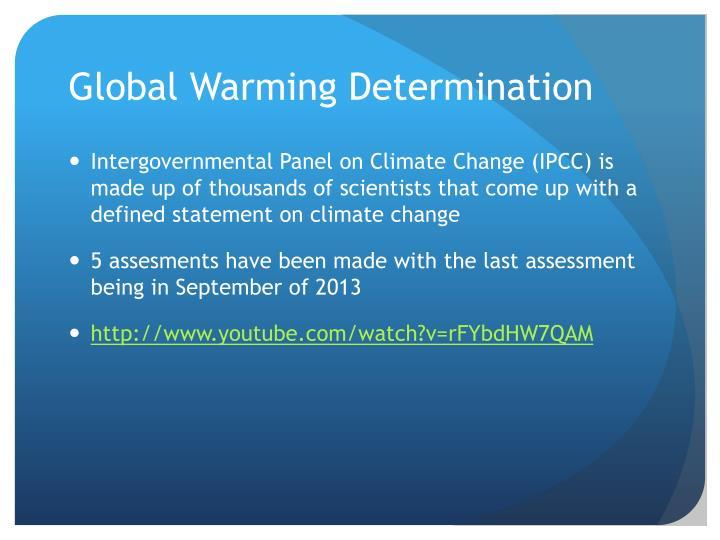 Global Warming Determination