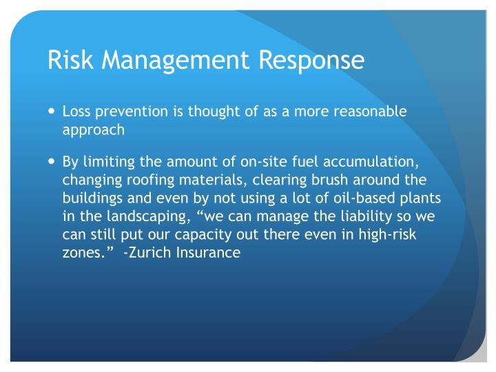 Risk Management Response