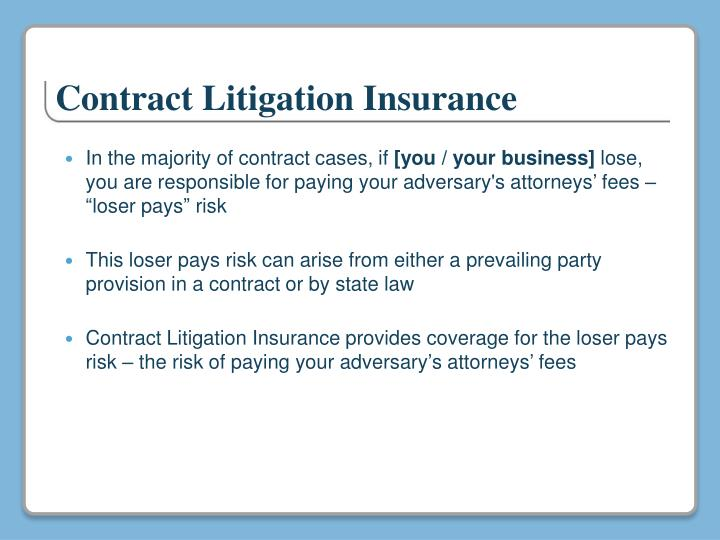 Contract Litigation Insurance