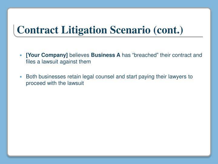 Contract Litigation
